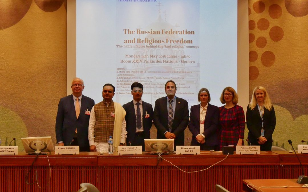 United Nations 30th UPR session : The Russian Federation and Religious Freedom