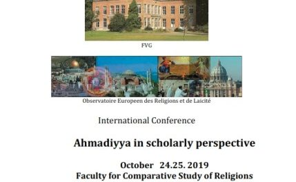 International Conference Ahmadiyya in scholarly perspective