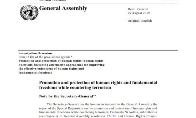 Report of the Special Rapporteur on the promotion and protection of human rights and fundamental freedoms while countering terrorism