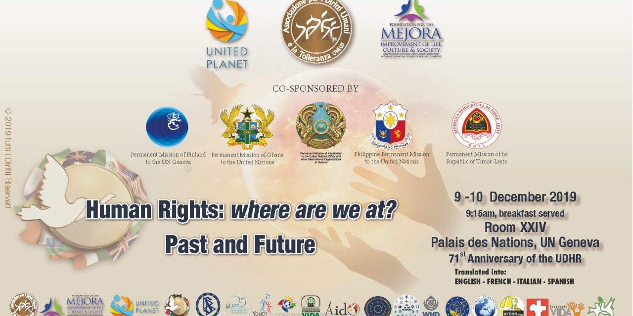 Human Rights : Where are we at ? Past and Future