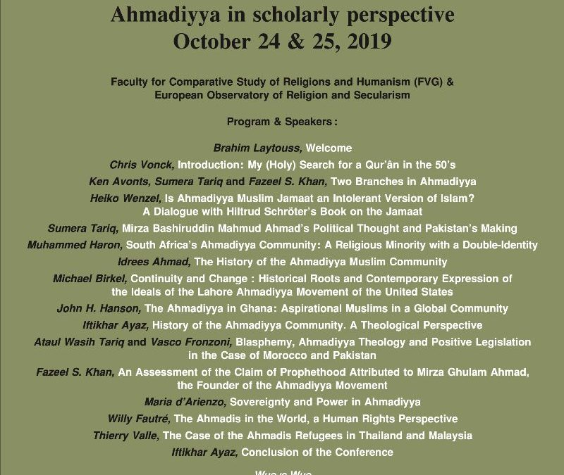 AHMADIYYA IN SCHOLARLY PERSPECTIVE