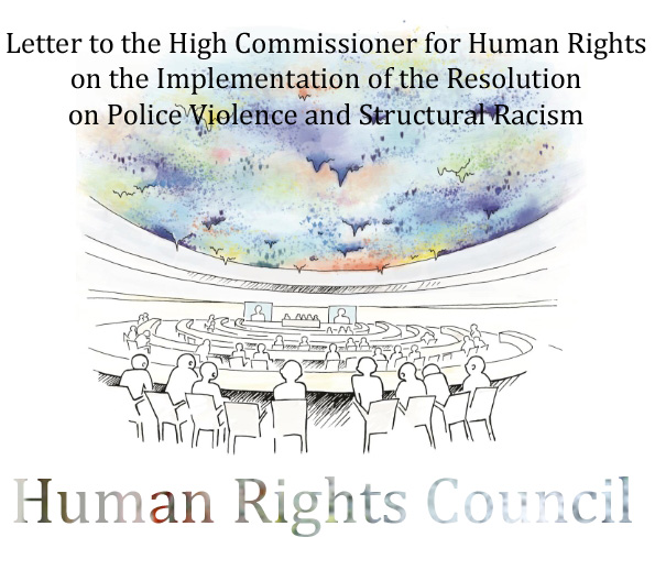 Letter to the High Commissioner for Human Rights  on the Implementation of the Resolution  on Police Violence and Structural Racism