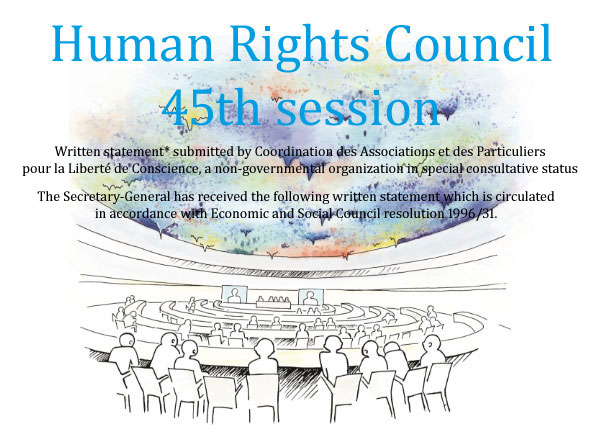 HRC 45 : Unabated Religious Persecution and the Danger of an Escalation —  A Case Study on 20 Years of Persecution of Falun Gong in People's Republic of China