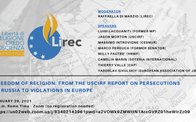 Freedom of Religion: From the USCIRF Report on Persecutions in Russia to Violations in Europe / FECRIS Is Almost Entirely Financed by the French State GONGO or NGO