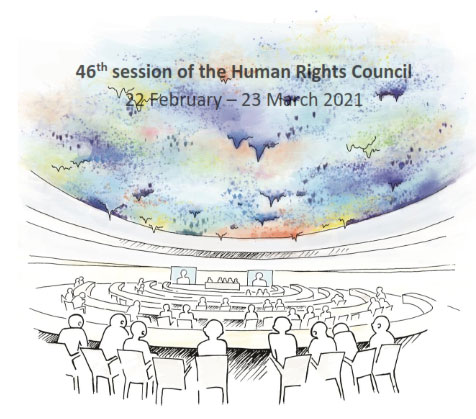 HRC 46 ID Rapporteur on the promotion and protection of human rights and fundamental freedoms while countering terrorism :  Statement on France