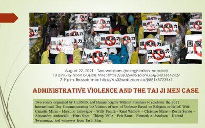 Administrative Violence and the Tai Ji Men Case Seminar 22 August 2021
