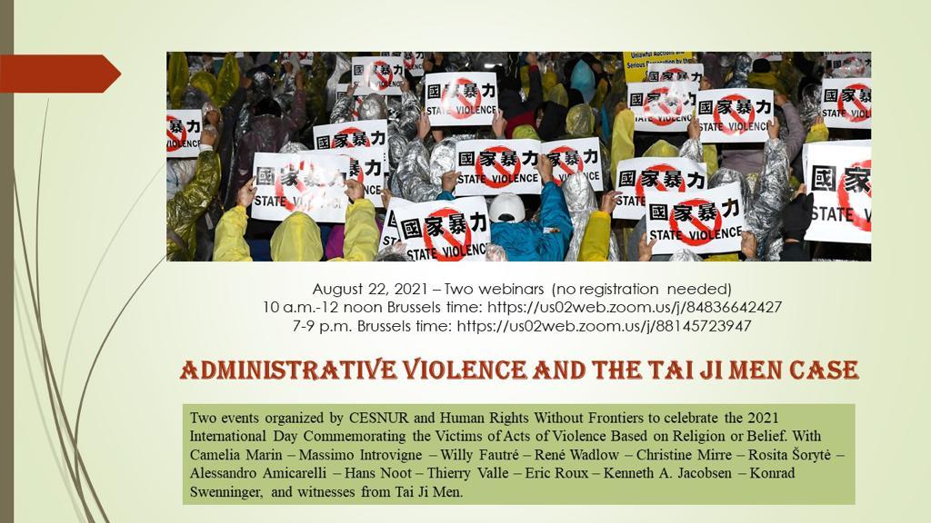 ADMINISTRATIVE VIOLENCE AND THE TAI JI MEN CASE